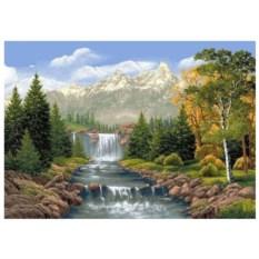 Картина-раскраска по номерам на холсте Река в Альпах