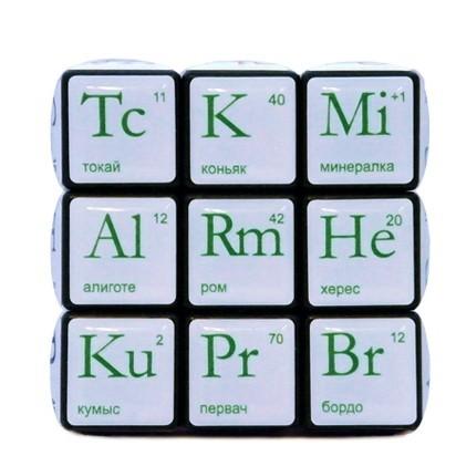 Кубик Рубика «Алкогольная таблица»