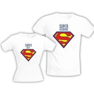 Парные футболки Супер муж /супер жена