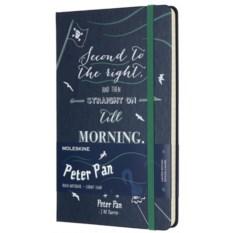 Темно-синяя записная книжка в линейку Moleskine Peter Pan
