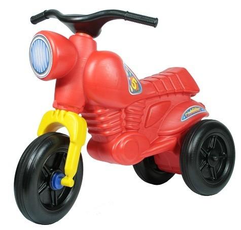 Красный детский мотоцикл-самокат Ретро-мот Макси