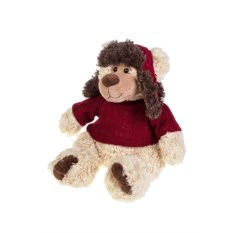 Мягкая игрушка Мишка в свитере и ушанке