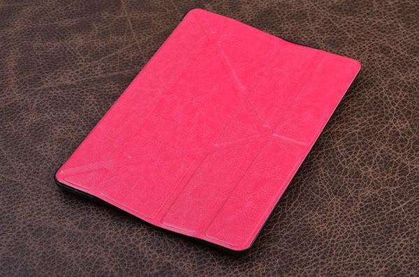 Кожаный чехол для iPad 5 Air «Нежная Пеларгония» (розовый)