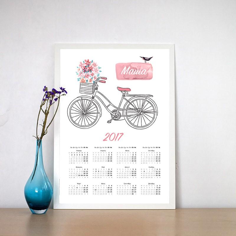 Постер - Календарь Велосипед