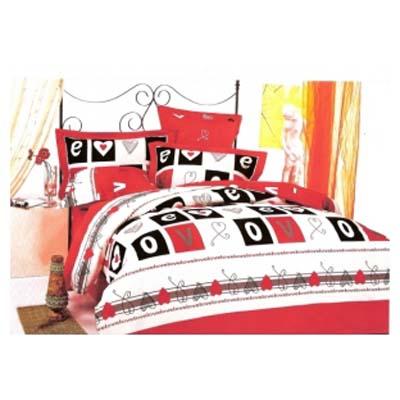 Двуспальное постельное белье LOVE / артикул: 200-12