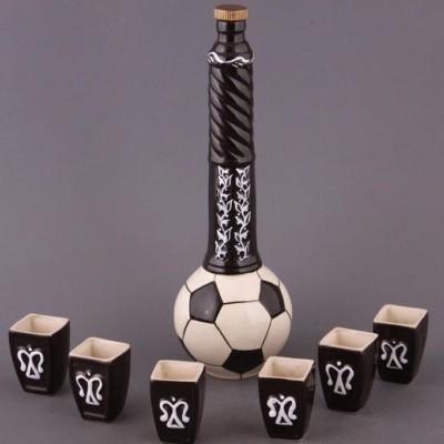 «Футбольный мяч». Водочно-коньячный набор