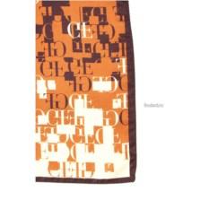 Коричневый мужской платок с принтом Gianfranco Ferre