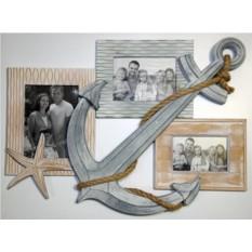 Настенная фоторамка-коллаж на 3 фото Незабываемый отдых