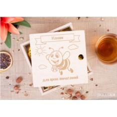 Подарочный набор из 4 банок мёда «Для хорошего настроения»
