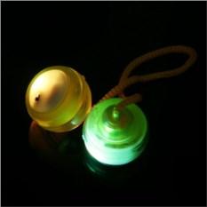 Желтый светящийся в темноте Йо-Йо Thumb Chucks Yo-Yo