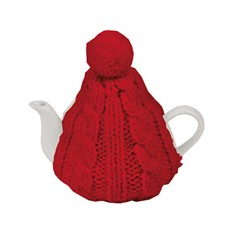 Чайник на 750 мл в теплой вязаной шапочке
