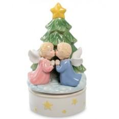 Музыкальная статуэтка Рождественский поцелуй от Pavone