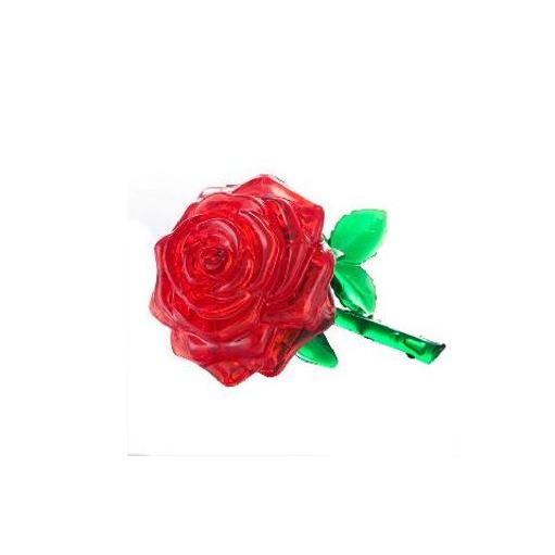 Головоломка 3D Crystal Puzzle «Роза», красная