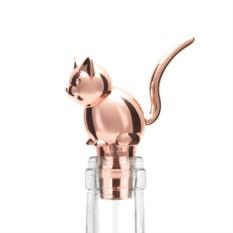Пробка для бутылки Menagerie Кот (цвет - медь)