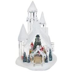 Светящийся новогодний сувенир Заснеженный замок