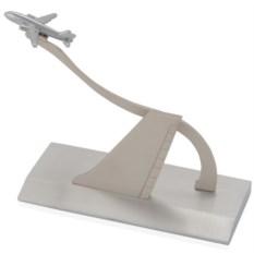 Модель пассажирского самолета на подставке для визиток