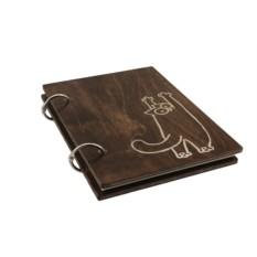 Блокнот деревянный «Кот Царап»