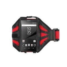 Универсальный красный cпортивный чехол на руку для телефона