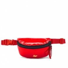 Малая красная лаковая поясная сумка Якорь