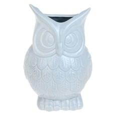 Голубая декоративная ваза Совушка
