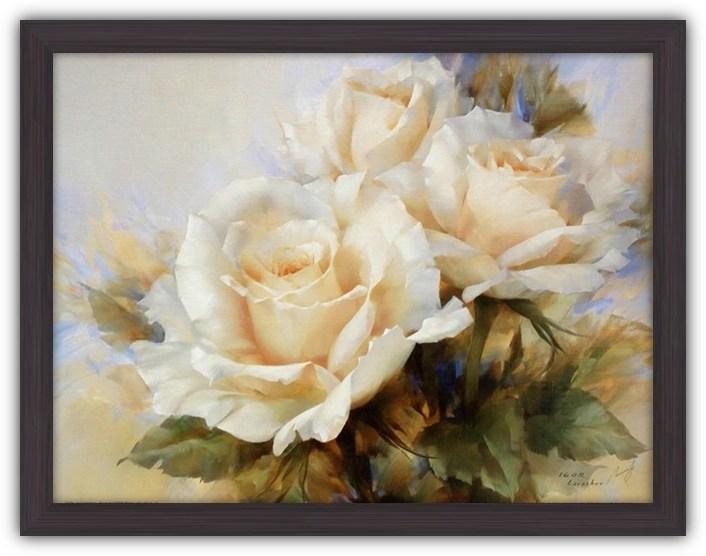 Постер Букет белых роз