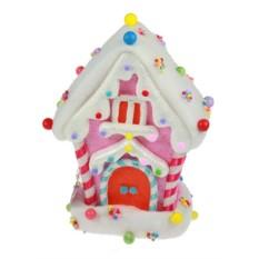 Новогодний сувенир Белый карамельный домик