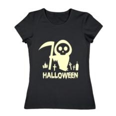Женская футболка Хеллоуин с косой