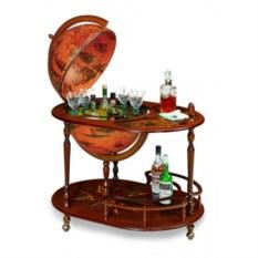 Глобус-бар напольный со столиком, размер 68x92x98 см