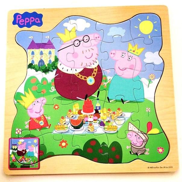 Игровой набор «Пазл Королевская семья», дерево, Peppa Pig