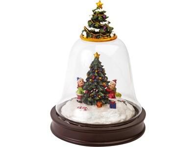Новогоднее украшение в виде колокольчика с елками