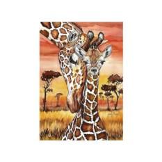 Алмазная вышивка «Жирафы»
