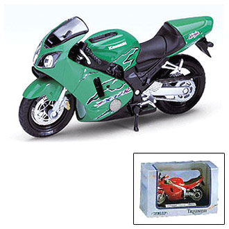 Мотоцикл KAWASAKI ZX-12R 1:18 Welly