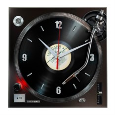 Настенные часы с изображением грампластинки
