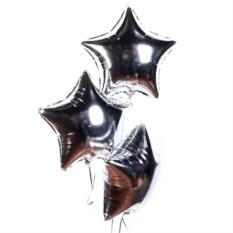 Фольгированные шары Серебряные звезды