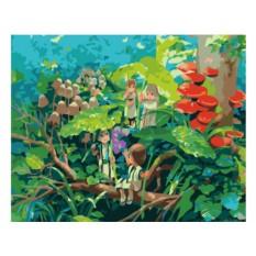Картины по номерам «Дождь в волшебном лесу»