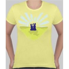 Женская футболка Зайцы