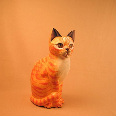 Статуэтка «Кошка рыжая полосатая»
