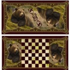 Настольная игра нарды и шашки Хозяин тайги
