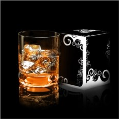 Оранжевый светящийся бокал для виски GlasShine