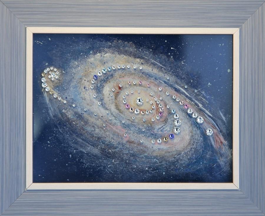 Картина с кристаллами Сваровски Галактика
