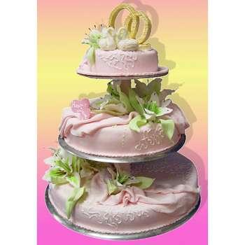 Торт «Влюблённые лебеди»