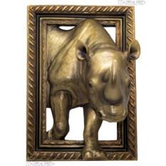 Объемное панно Носорог (45х32 см)