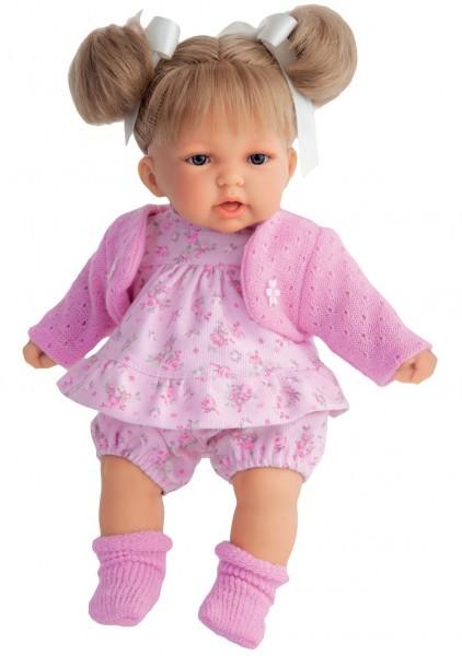 Озвученная кукла-малыш Блондика Рита