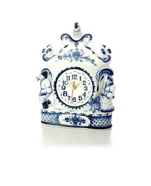 Часы с художественной росписью Прятки (Гжель)
