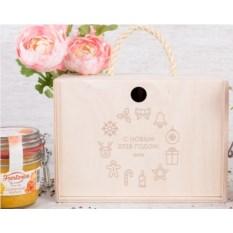 Набор фруктового крем-мёда Frestorica «Новогодние узоры»