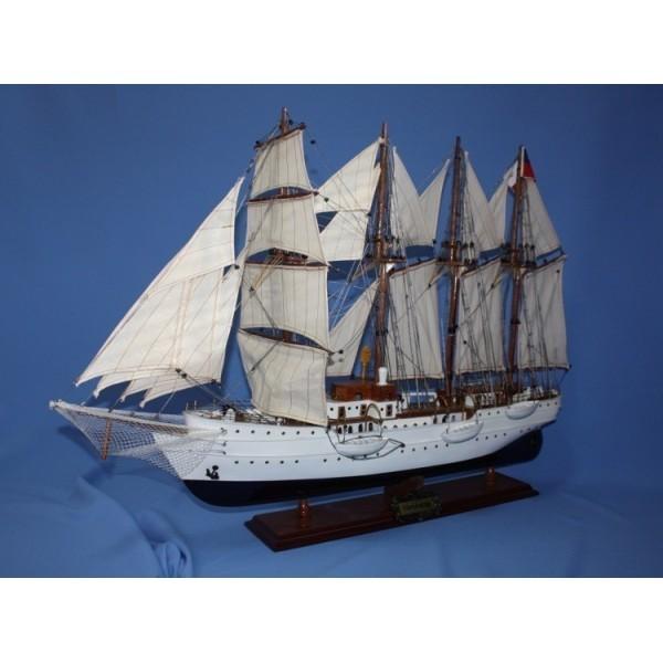Модель парусной 4-x мачтовой шхуны-баркентина Esmeralda