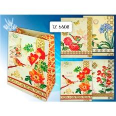 Подарочный бумажный пакет Райская птичка