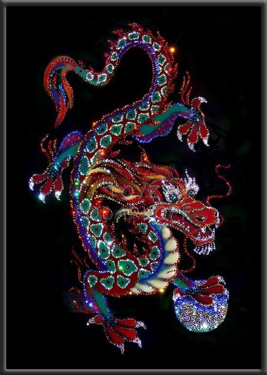 Картина с кристаллами Swarovski Императорский дракон