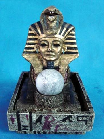Декоративный фонтан Египетские мотивы фараон с подсветкой