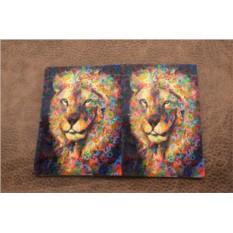 Обложка на паспорт «Величественный лев»